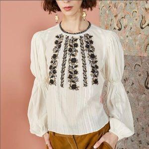 Ulla Johnson Vida embroidered cotton blouse